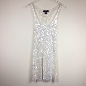 Arden B. | Sheer Sequin Dress Overlay | Sz S